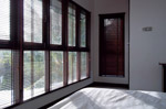 Floor to ceiling windows in master bedroom